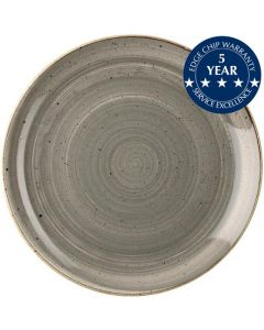 """Churchill Stonecast Coupe Plate 8.75"""" Peppercorn Grey"""