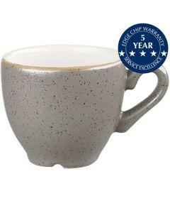 Churchill Stonecast Espresso Cup 3.5oz Peppercorn Grey