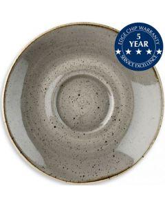 "Churchill Stonecast Saucer 4.25"" Peppercorn Grey"
