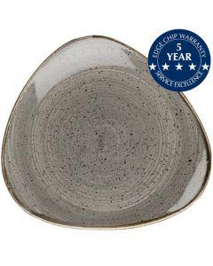 "Churchill Stonecast Triangle Plate 10.5"" Peppercorn Grey"