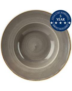 "Churchill Stonecast Wide Rim Bowl 11"" Peppercorn Grey"