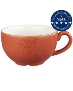 Churchill Stonecast Cappuccino Cup 8oz Spiced Orange