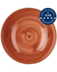 "Churchill Stonecast Large Coupe Bowl 12"" Spiced Orange"