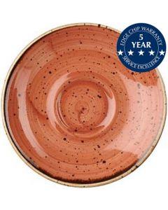 "Churchill Stonecast Saucer 6.25"" Spiced Orange"
