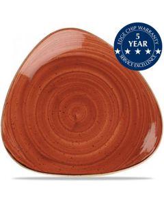 "Churchill Stonecast Triangle Plate 9"" Spiced Orange"