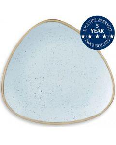 "Churchill Stonecast Triangle Plate 7.75"" Duck Egg Blue"