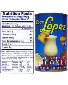 Coco Lopez 15oz Can x 6