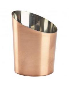 Copper Angled Cone 11.6 x 9.5cm