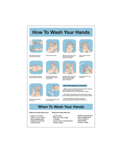 How to Wash Your Hands Safety Guidance Vinyl Sticker