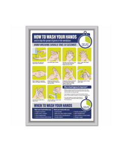 How to Wash Your Hands in the Workplace Framed Poster Notice