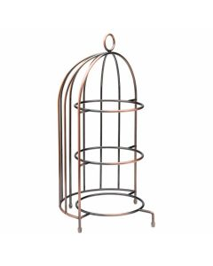 """Birdcage Plate Stand 17.5 x 8.75"""""""