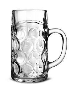 Dimpled Beer Stein Glasses 24oz