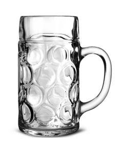 Dimpled Beer Stein Glasses 45oz