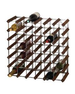 Wine Rack Dark Wood 42 Bottle