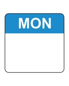 Food Labels Square 25x25mm Monday (Blue)
