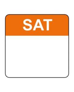 Food Labels Square 25x25mm Saturday (Orange)