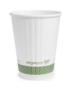 Vegware Embossed Hot Cup 12oz Compostable