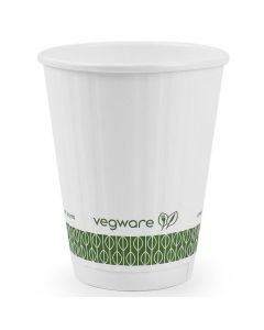 Vegware Embossed Hot Cup 8oz Compostable