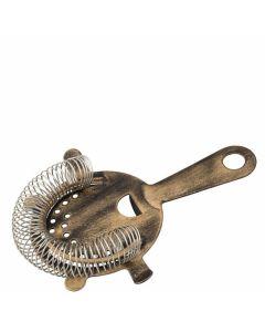 Vintage Copper Cocktail Strainer - 4 Prong