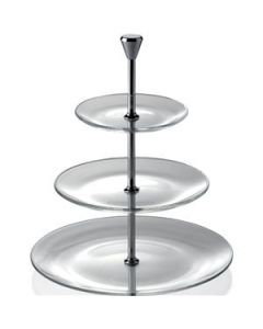 Glass Full Moon Tiered Plate