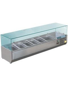 Polar Refrigerated Saladette Servery Topper x6GN