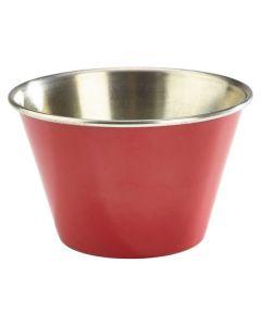 Red Stainless Steel Ramekin 2.5oz