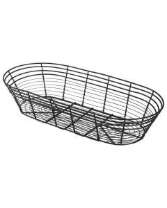 Genware 39x 17x 8cm Oblong Black Wire Basket