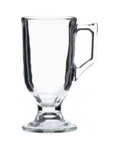 Handled Glass Liqueur Coffee Mugs