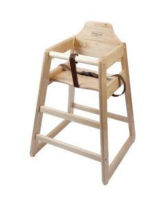 Wooden High Chair (Light Wood)