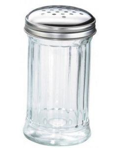 12fl oz Large Glass with Stainless Steel Dredger Top