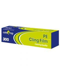 "Caterwrap PVC Catering Cutterbox Clingfilm 12"" 18"" 300m"