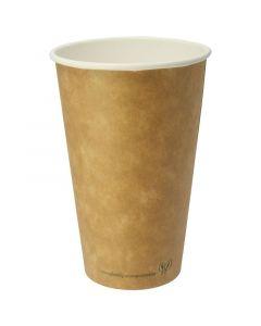 Vegware Kraft Hot Cup 16oz Compostable