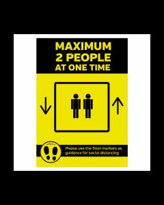 Maximum 2 People Lift Sign