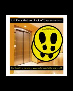 Lift Social Distancing Floor Markers