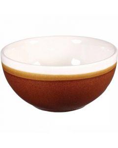 Churchill 16oz Monochrome Bowl Cinnamon Brown