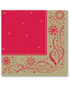 Red & Gold Snowflake Swirl