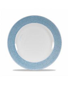 "Churchill Isla Footed Plate 10.8"" Ocean Blue"