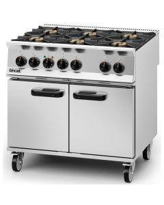 Lincat Opus 800 6 Burner LPG Gas Dual Fuel Oven OD8007/P