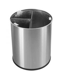 Stainless Steel Waste Bin 13 Litre (3 Section)