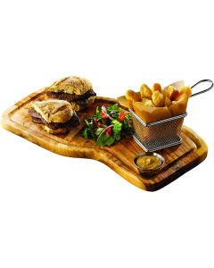 Olive Wood Serving Board w/ Groove