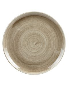 """Antique Taupe Coupe Plate 11.25"""""""