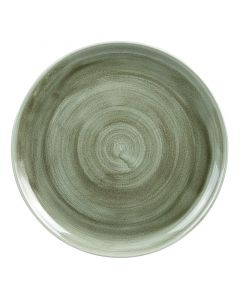 """Burnished Green Coupe Plate 10.25"""""""