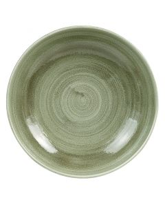 """Burnished Green Coupe Bowl 9.75"""""""