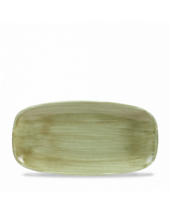 """Burnished Green Chefs' Oblong Plate 11.75"""""""