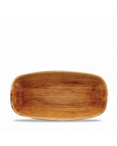 "Vintage Copper Chefs' Oblong Plate 11.75"""