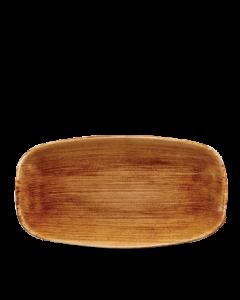 "Vintage Copper Chefs' Oblong Plate 13.875"""