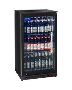 Prodis NT1SLIM Black Hinged Bottle Cooler