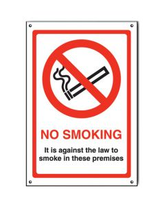 No Smoking Its Against The Law Sign - Window Sticker Vinyl