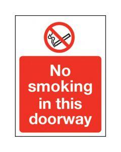 No smoking in this doorway Sign - Window Sticker Vinyl