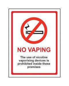 No Vaping Sign - Window Sticker Vinyl